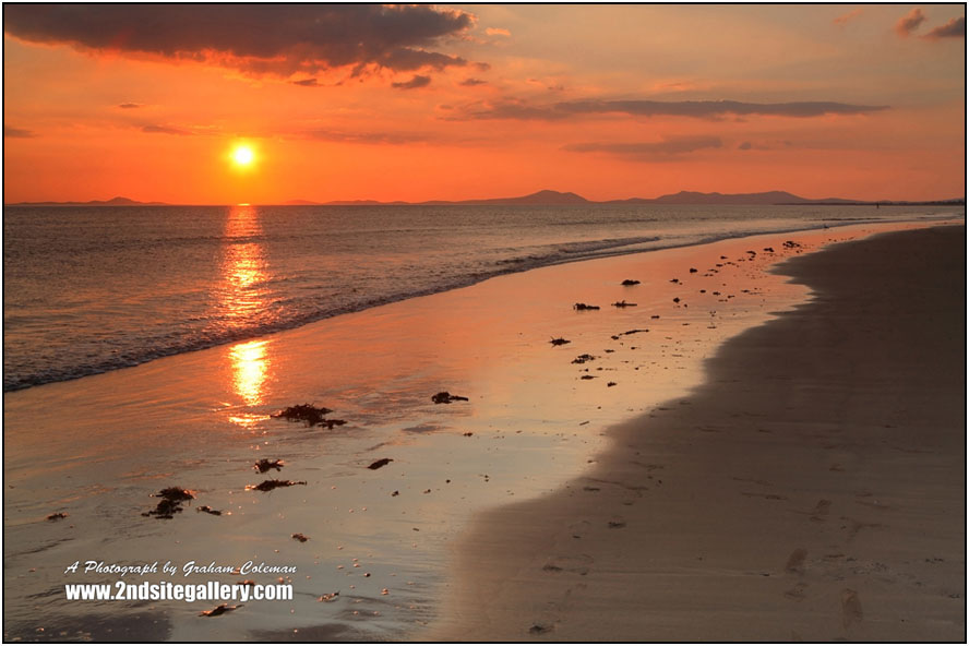 sunset at Barmouth beach
