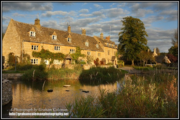 Cotswold cottages at Lower slaughter, pictures of the cotswolds by Graham Coleman