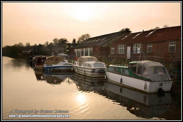 Boats on the river avon at Saltford near bristol a landscape photograph by graham coleman