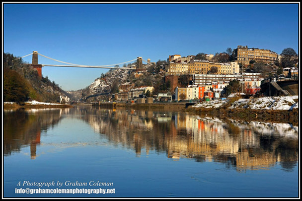 The Clifton Suspension Bridge and the Avon Gorge an original photograph from Graham Coleman's pictures of Bristol