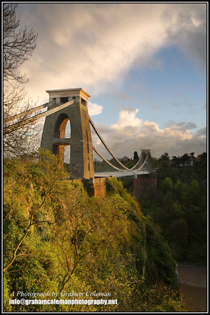 Clifton suspension bridge with dramatic sky an original photograph by graham coleman