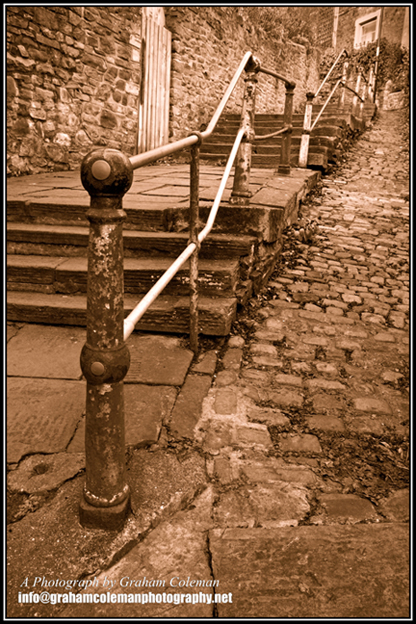 White Hart steps Clifton wood an original photograph by Graham Coleman from the pictures of Bristol collection