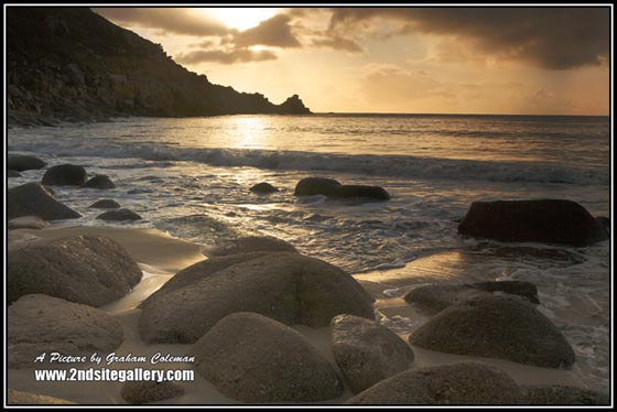 Sunrise at Lamorna Cove, Cornish Seascapes by Graham Coleman