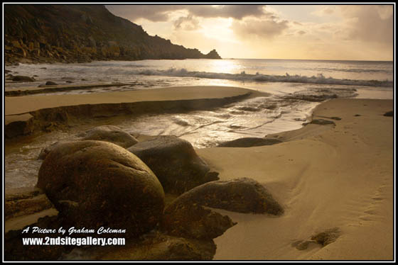 Lamorna cove at sunrise, Classic landscapes of Cornwall